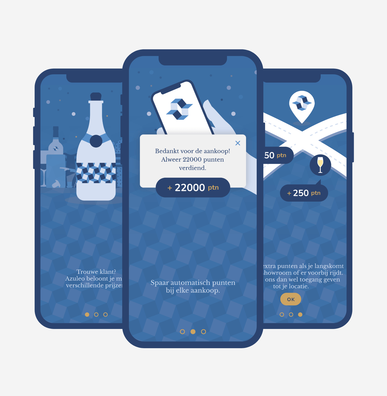 Detailed onboarding artwork for the Steylaerts app built by this might work