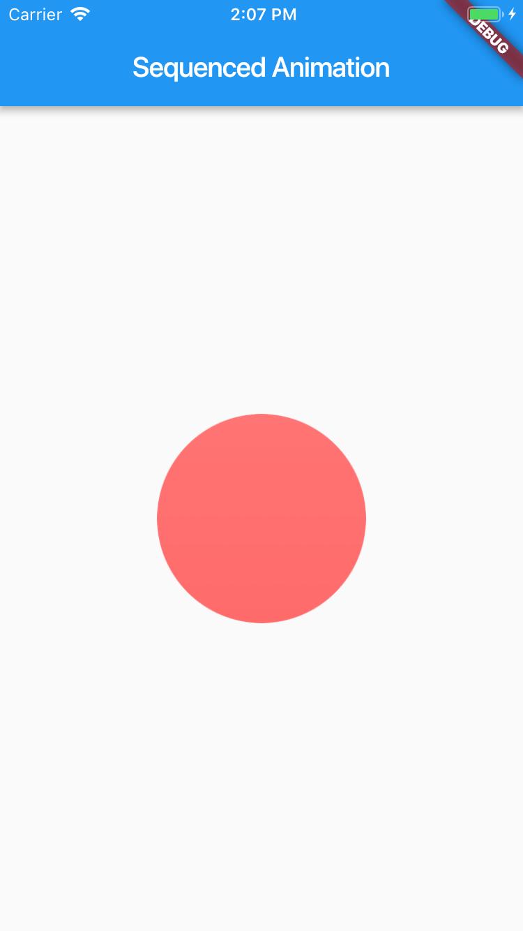 Screenshot of app in iOS Simulator after adding first asset.
