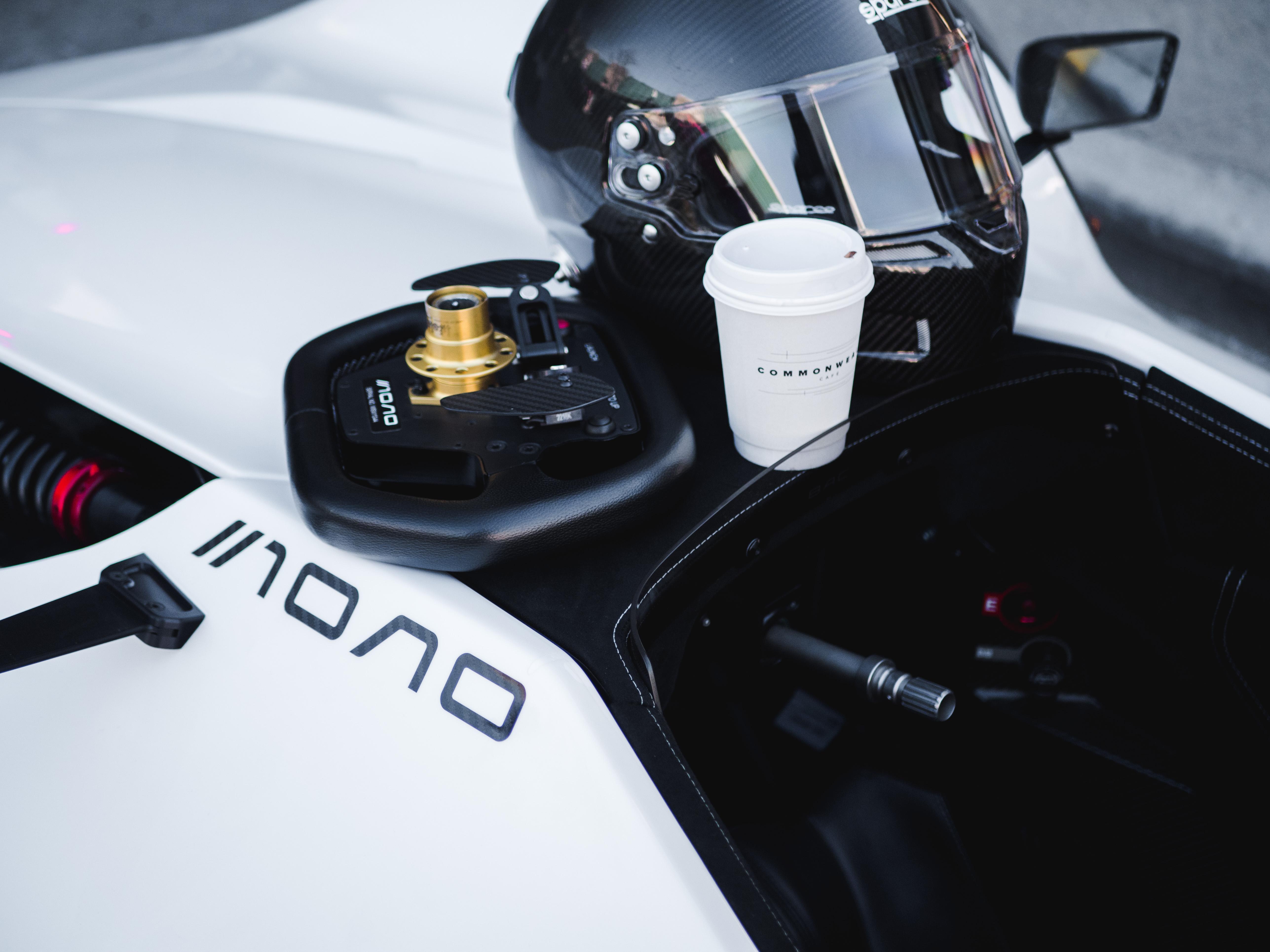 A BAC Mono on a coffee run