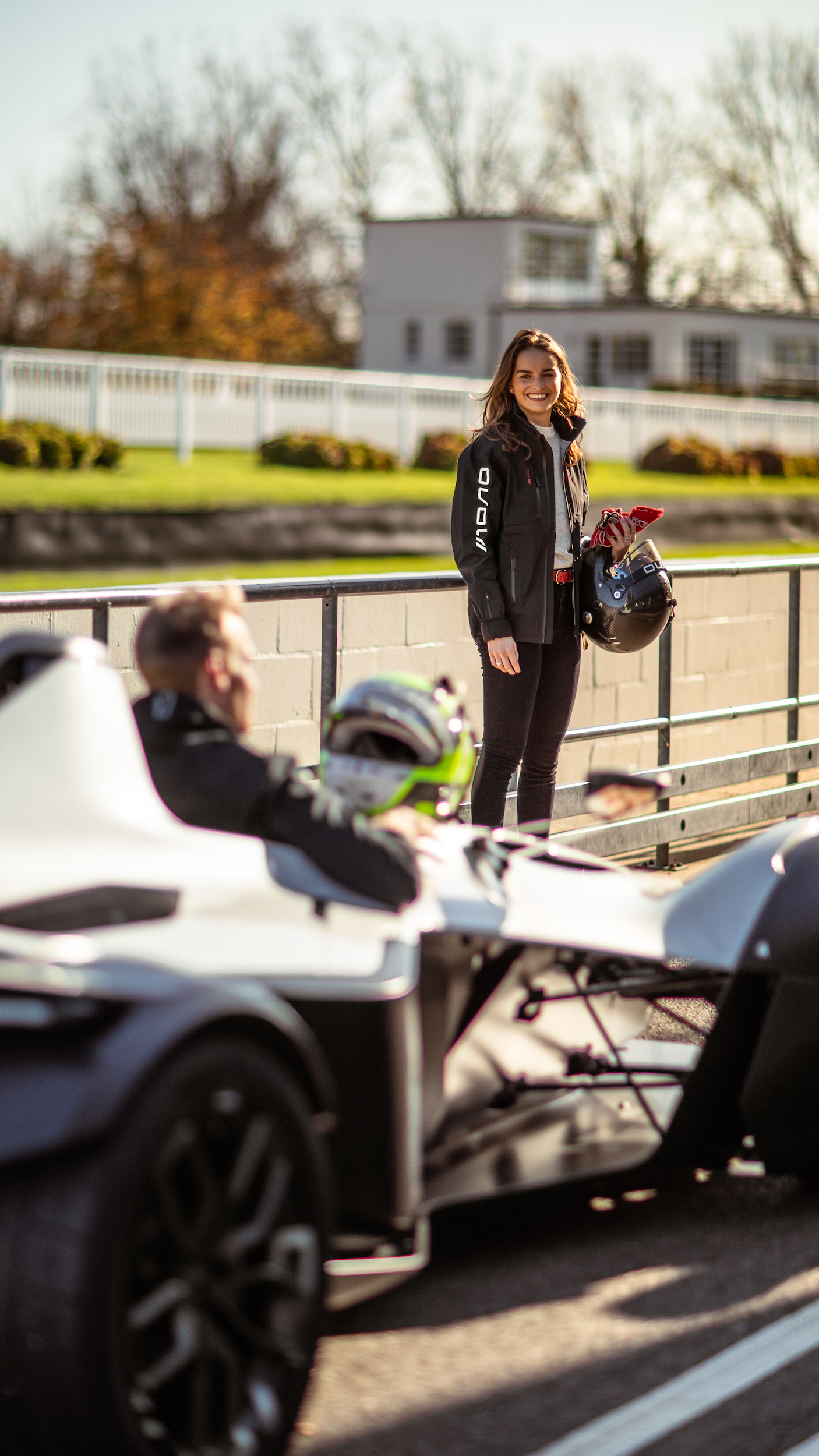 Couple preparing for a track day with BAC Mono