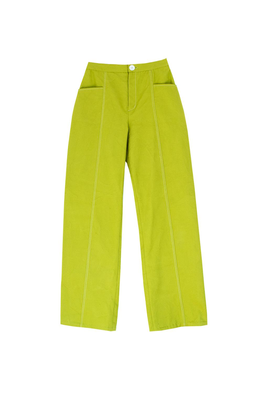 The branda pants - green denim