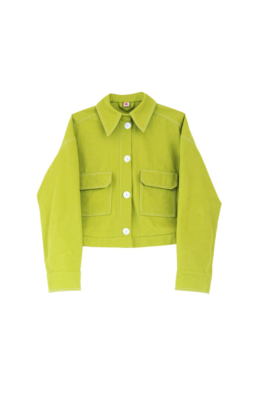the branda jacket - green denim