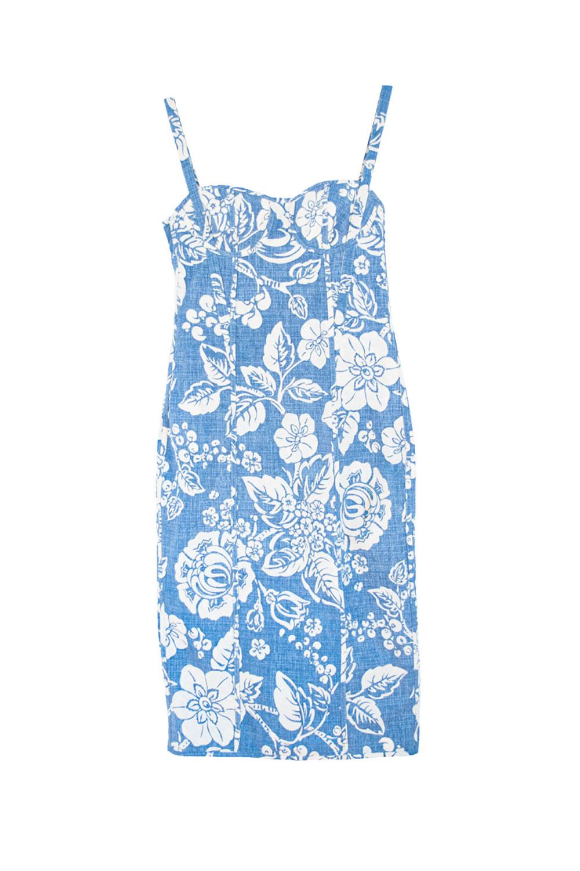 the Rachel dress - blue / white floral