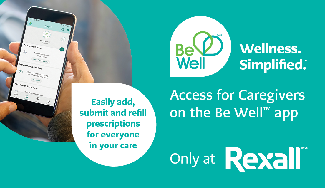 Image of Rexall Be Well app