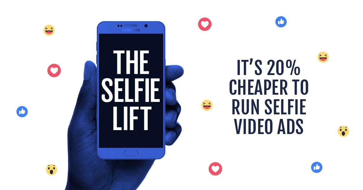 Selfie video ads are 20% cheaper to run