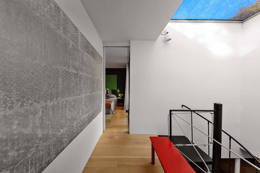 East Hampton House Upstairs Walkway and Skylight