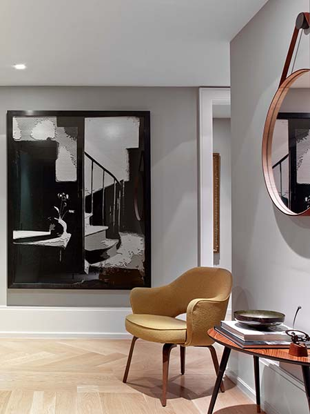 West 82nd Street Chair and Mirror