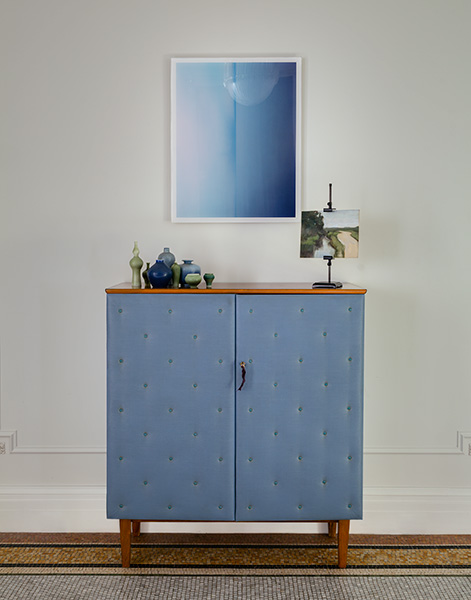 The Apthorp Blue Cabinet and Painting