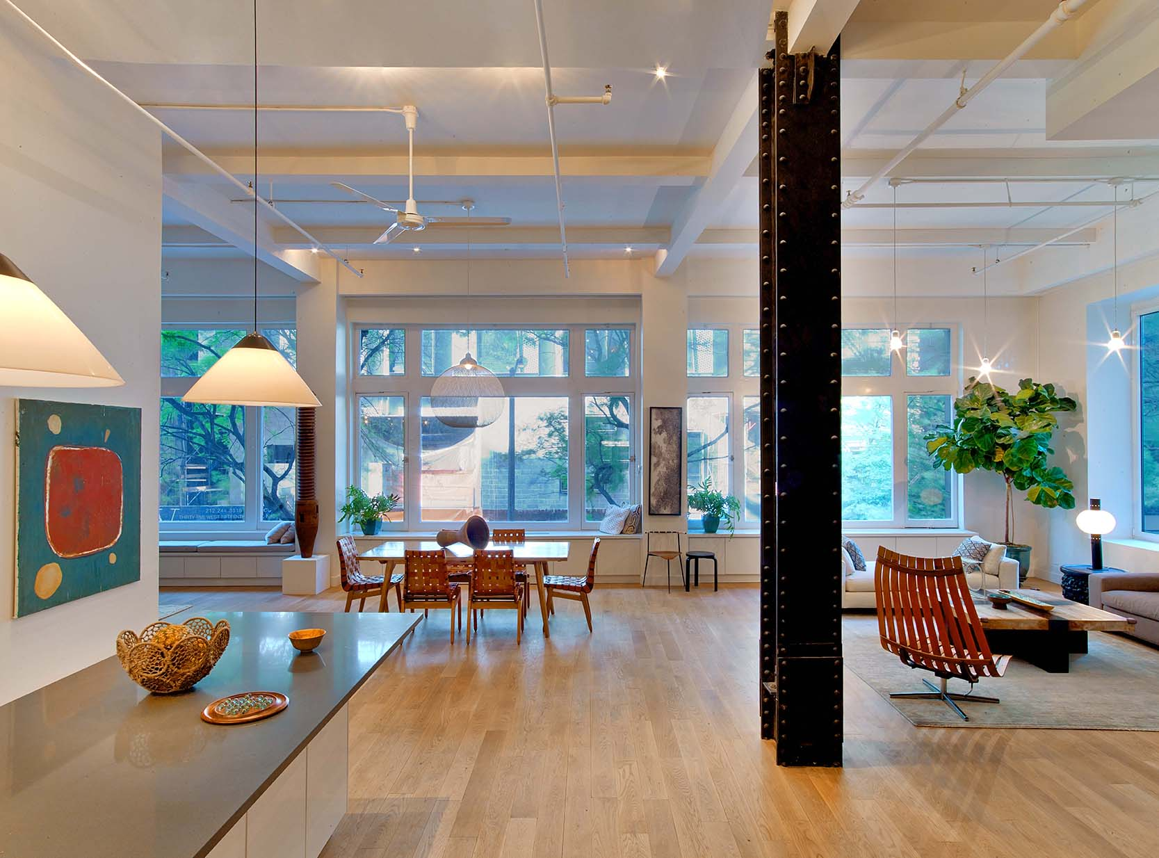 Flat Iron Loft Living Space