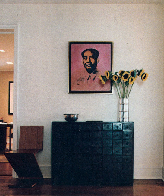 Central Park West - Apartment Decorative Chest and Painting