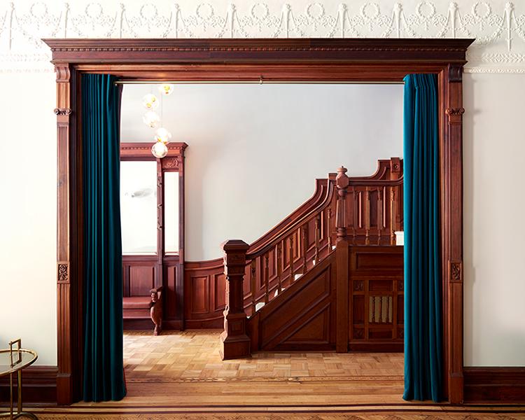 Park Slope Brownstone Doorway and Staircase