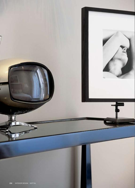 Park Avenue Penthouse Desk with Antique TV