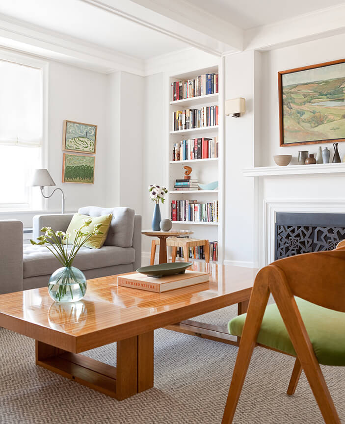 Upper East Side Duplex Living Room