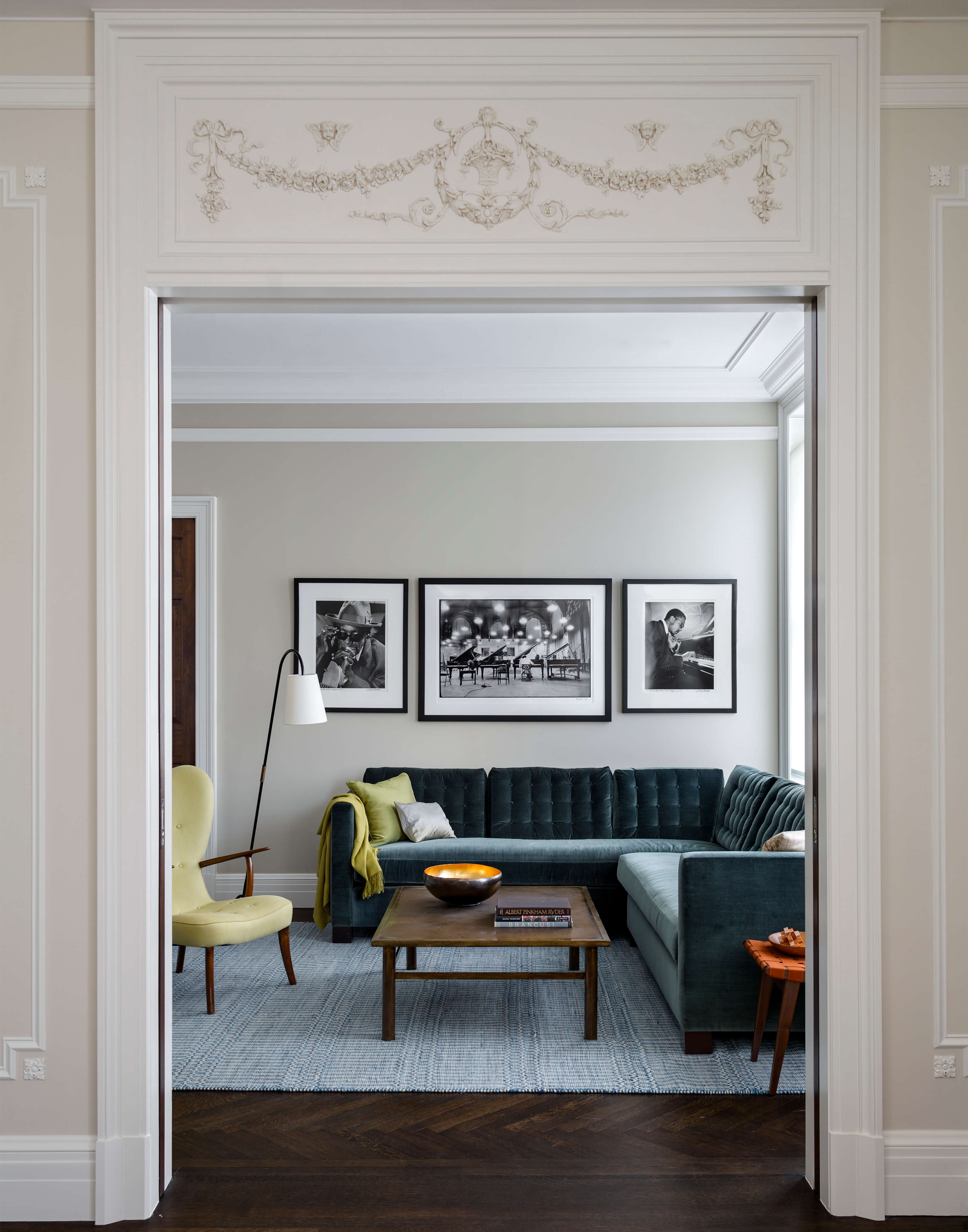 The Apthorp Doorway to L-shaped Couch