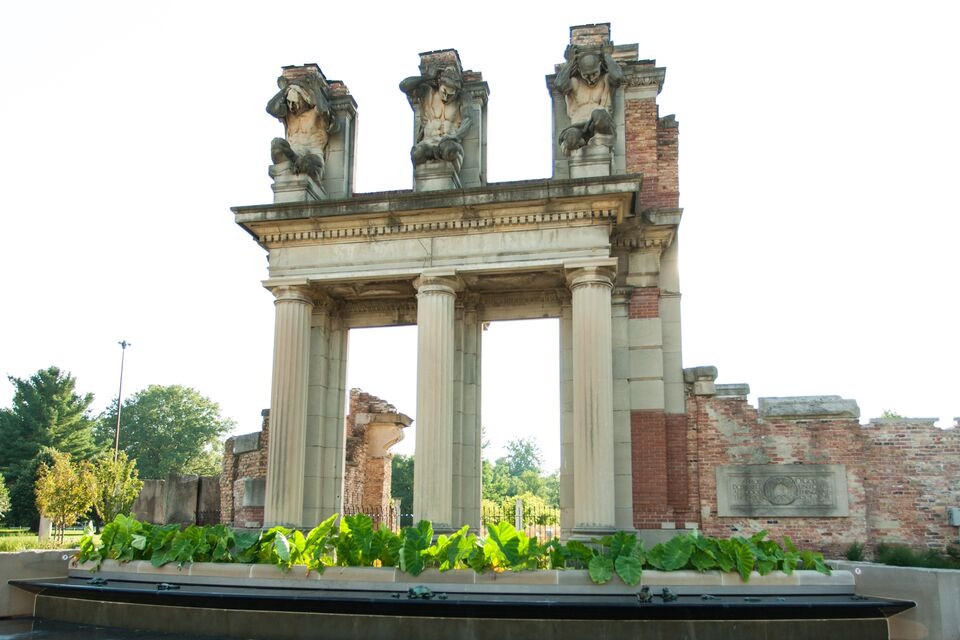 Photo of the ruins during the day.