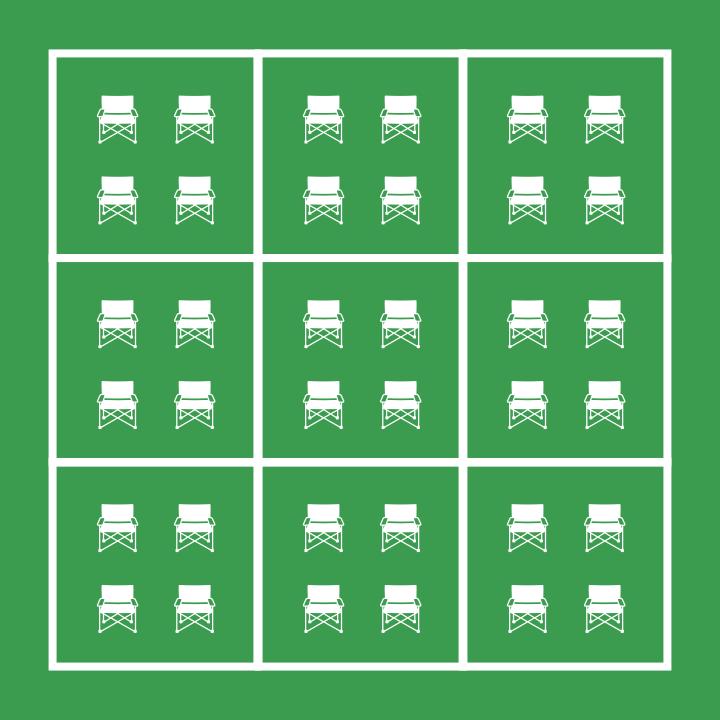 Seating grid illustration.