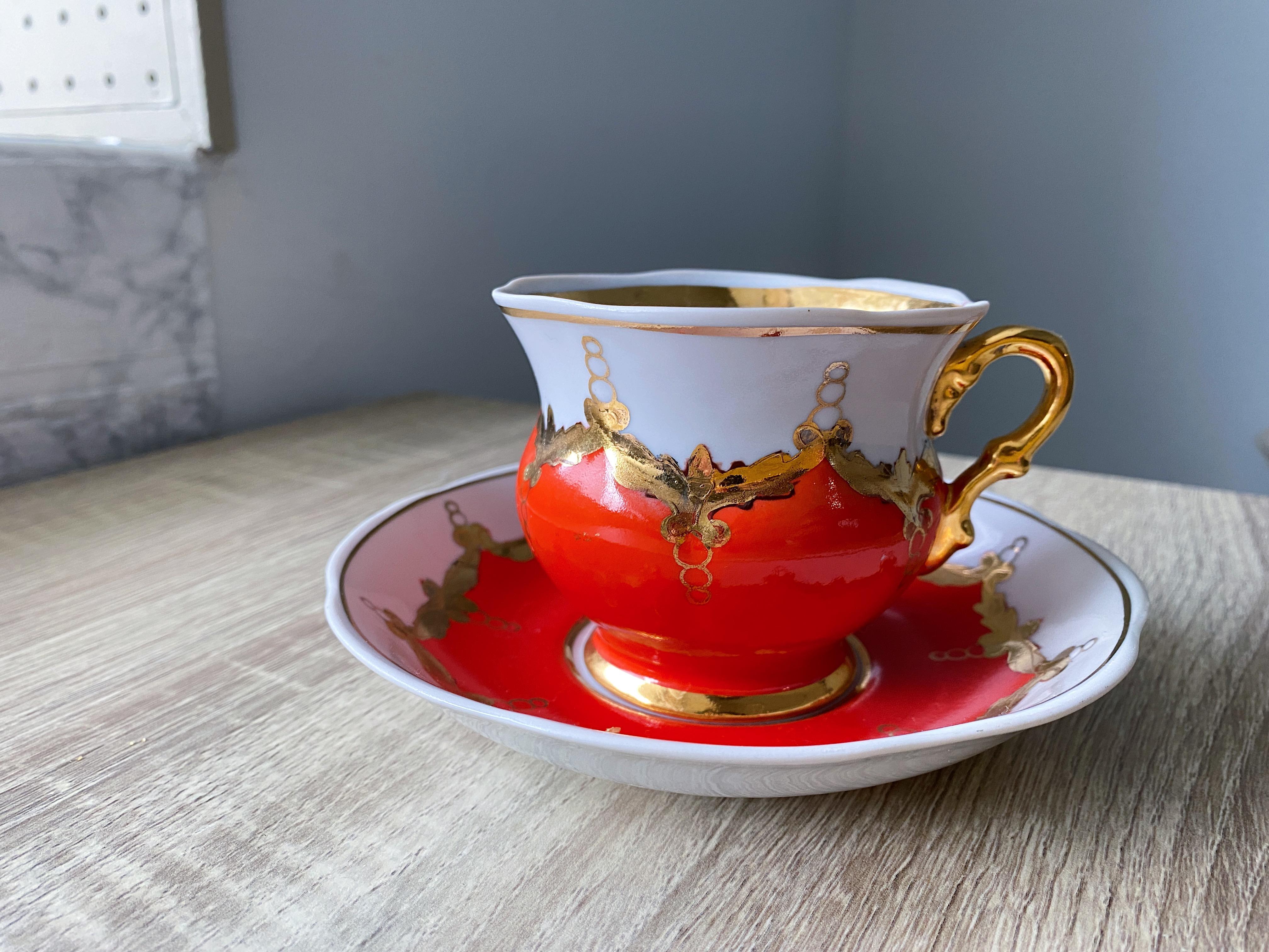 USSR旧ソビエト製 1950年代ヴィンテージコーヒーカップ
