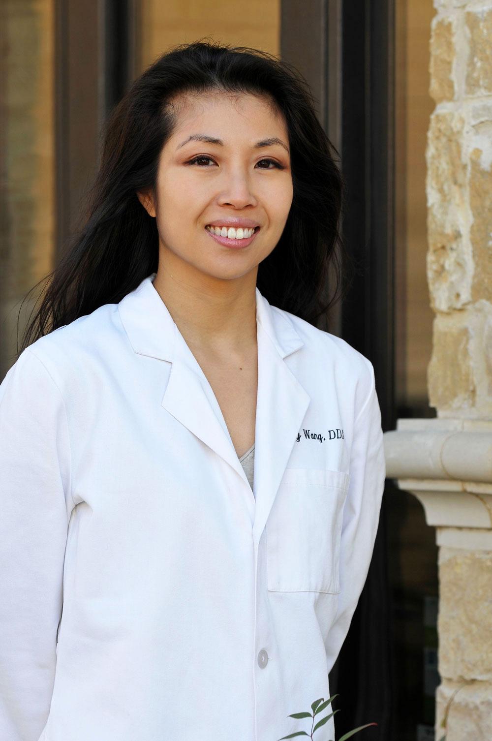 Dr Sandy Wang smiling