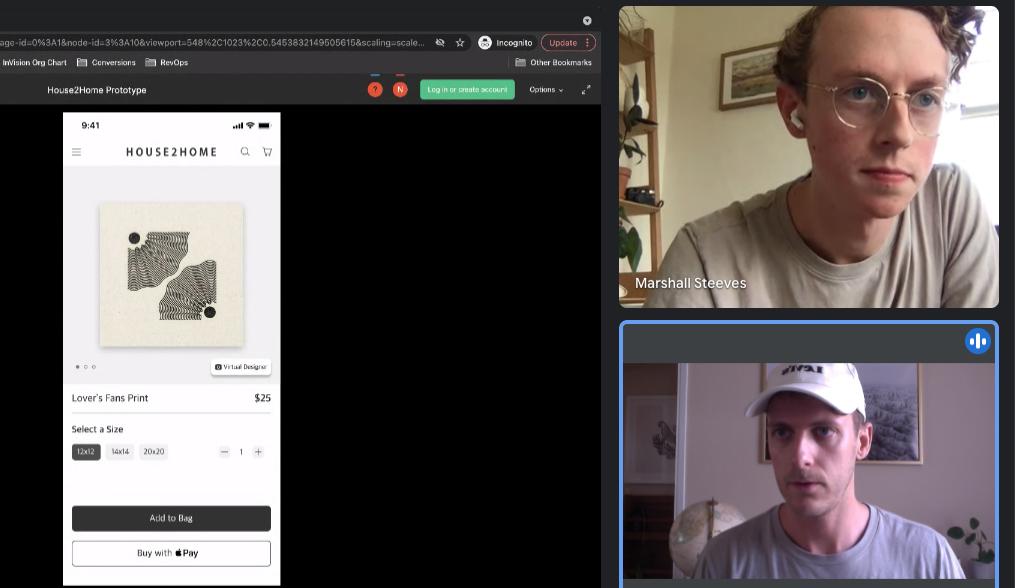 screenshot of moderated usability testing