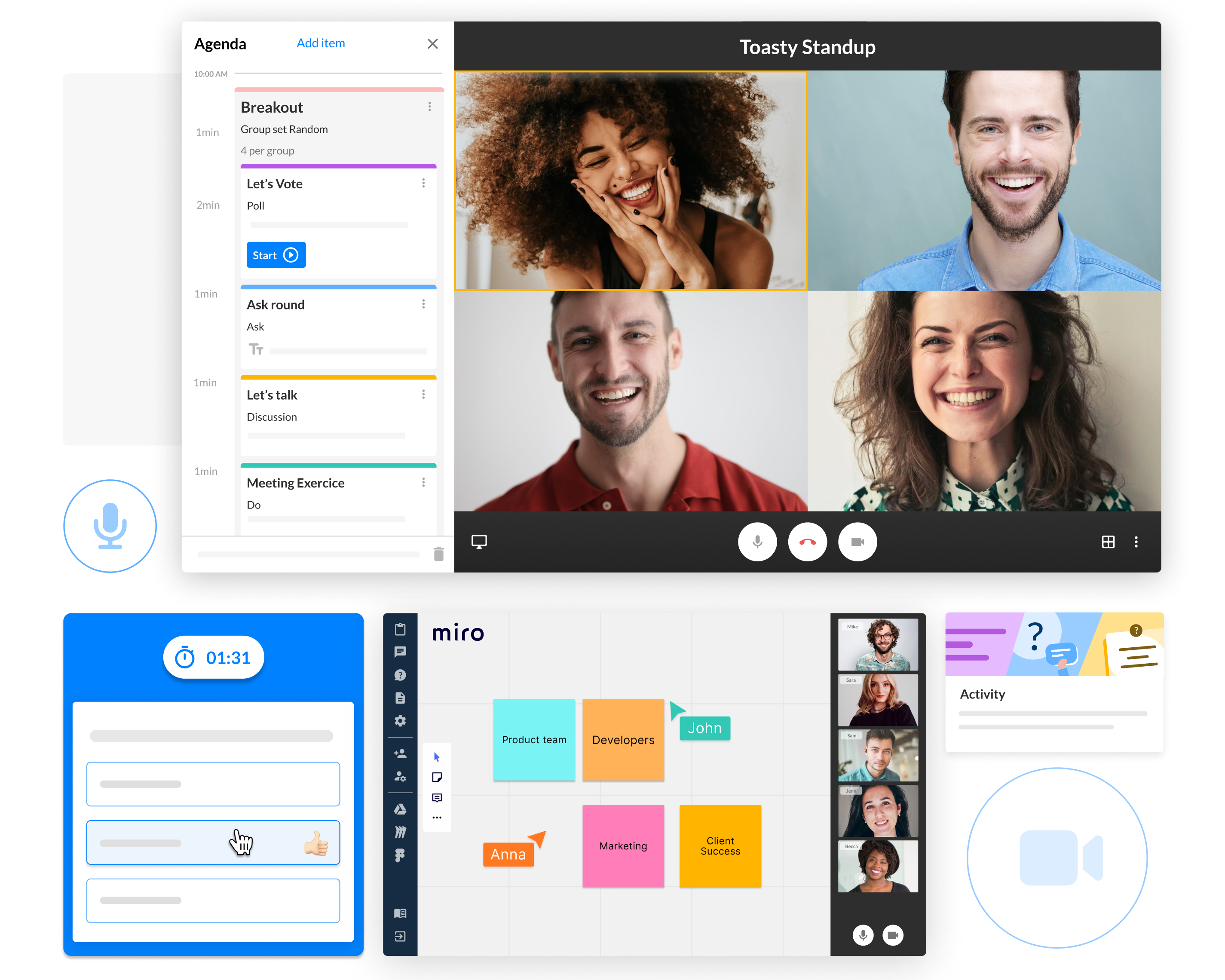 Video meetings designed to engage any audience with ease