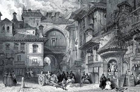 Granada, Maurisches Tor um 1830, von David Roberts