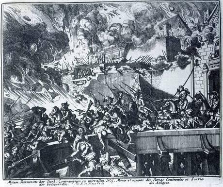 Radierung von Romeyn de Hooghe (1645): Tuerken vor Wien
