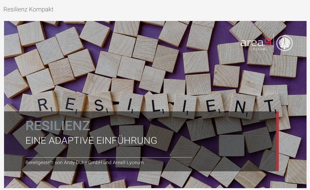 Das adaptive Lernmodul Resilienz von Andy Duke