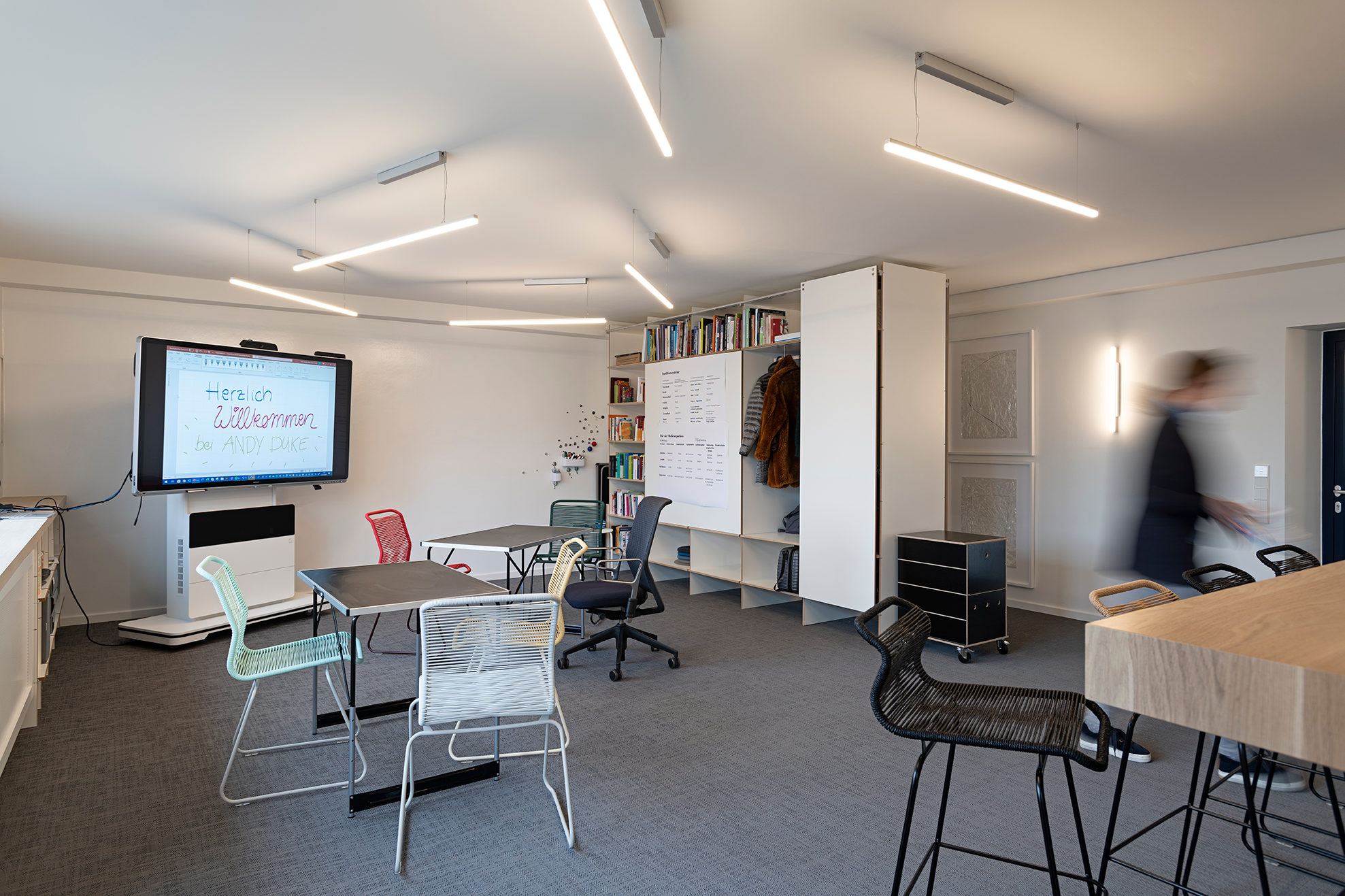 Agiles Arbeiten, flexibel sein, digital und analog - das ist der Andy Duke Raum
