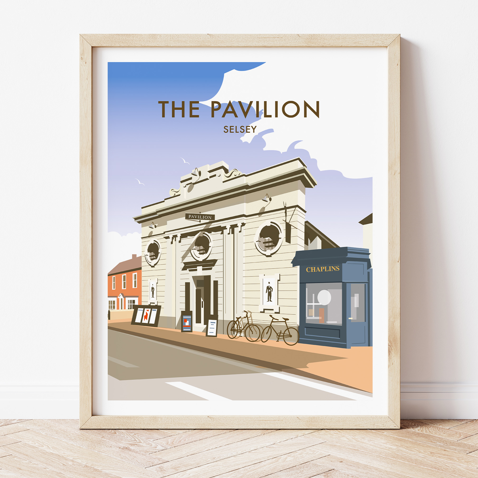 Selsey Pavilion charity art print by Dave Thompson