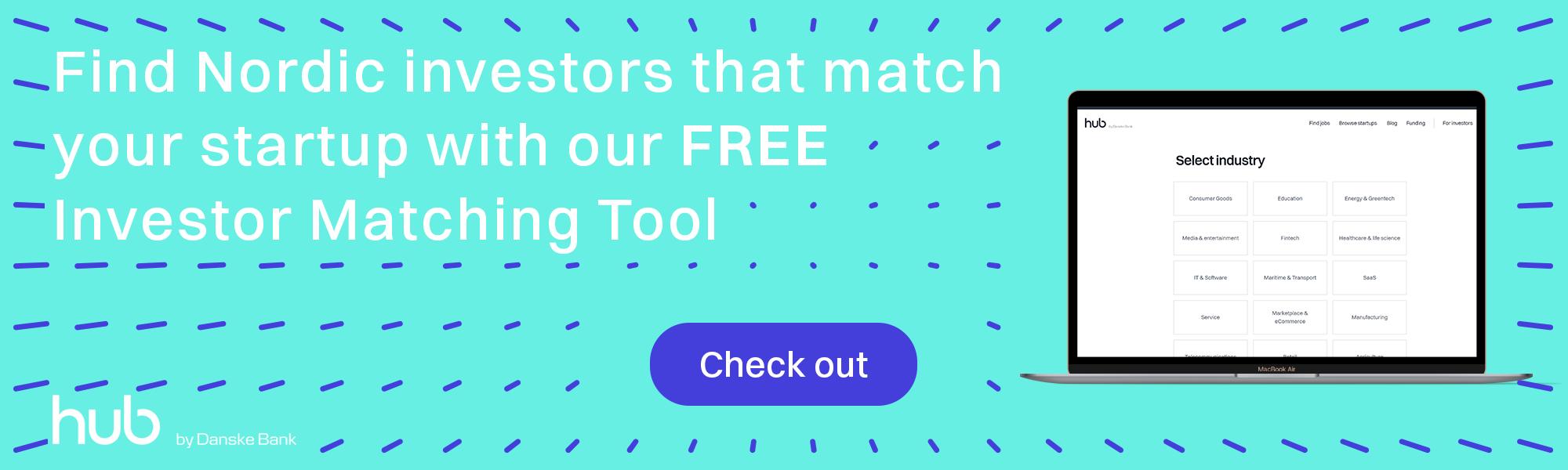 Investor funding matching tool