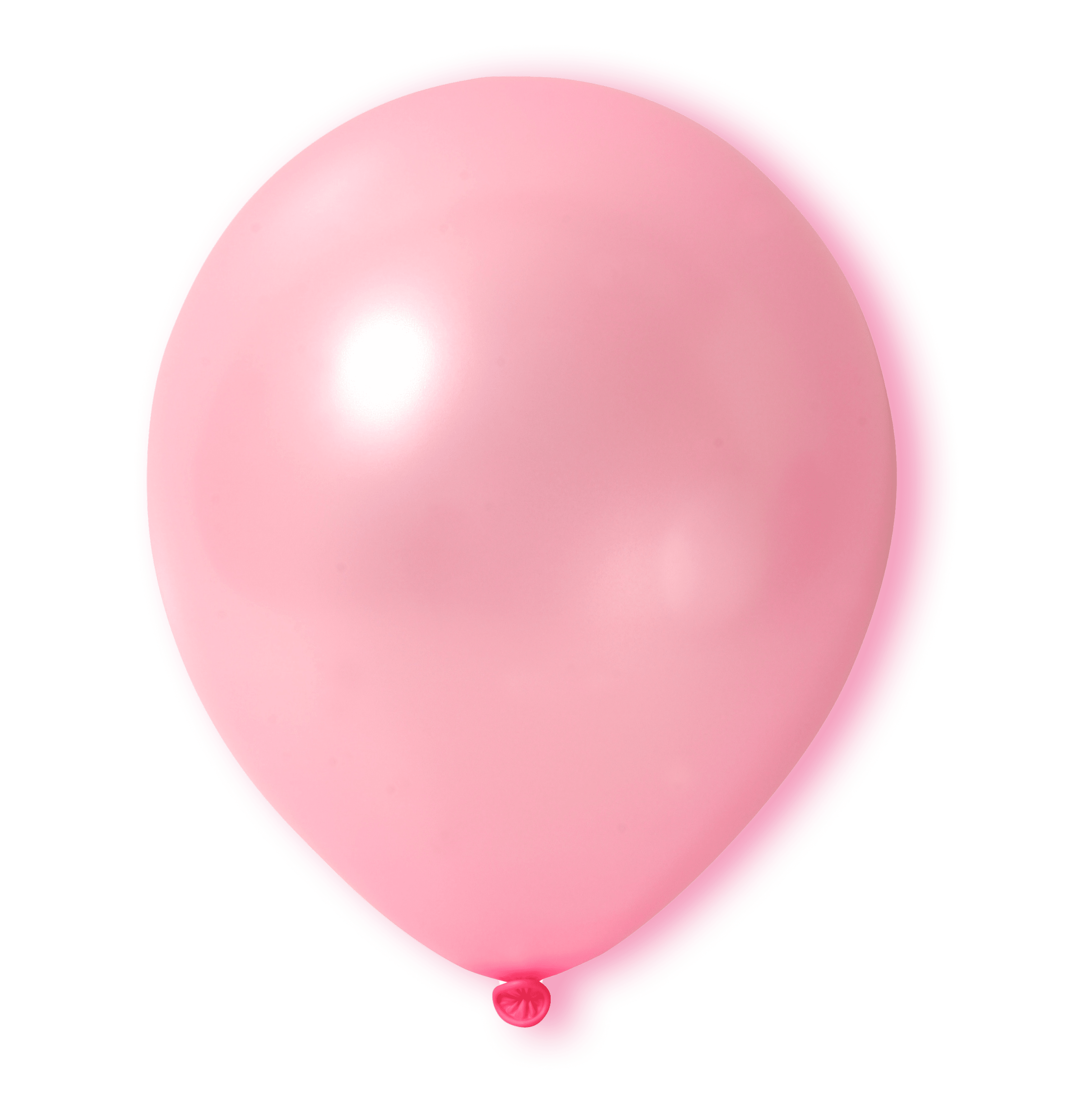 A pink balloon floating