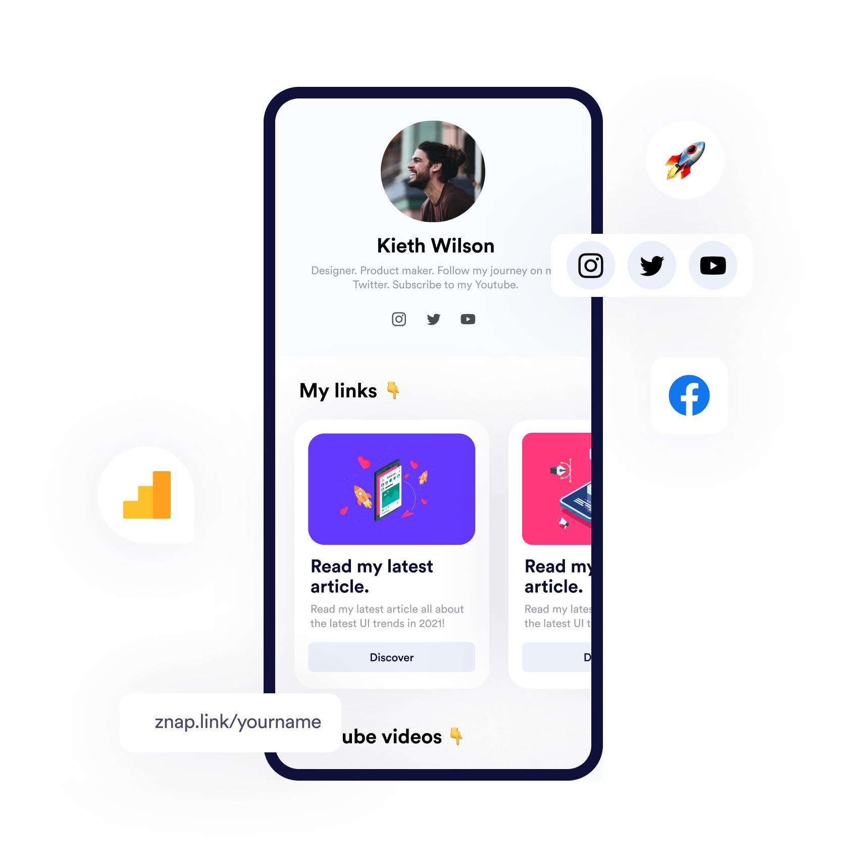 Znaplink is a free Linktree alternative - Your online homepage