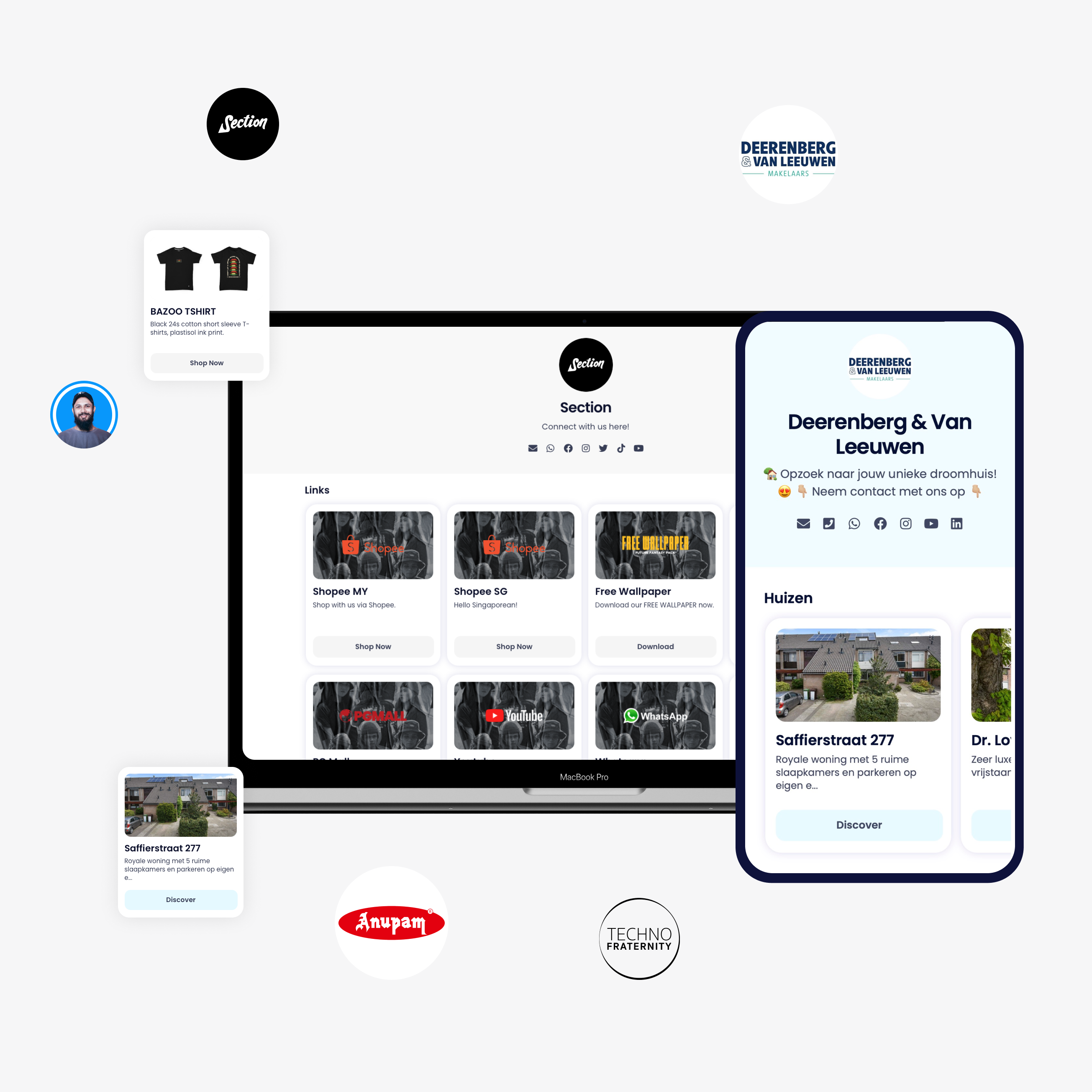 Znaplink link in bio tool for designers, ui and ux designers.