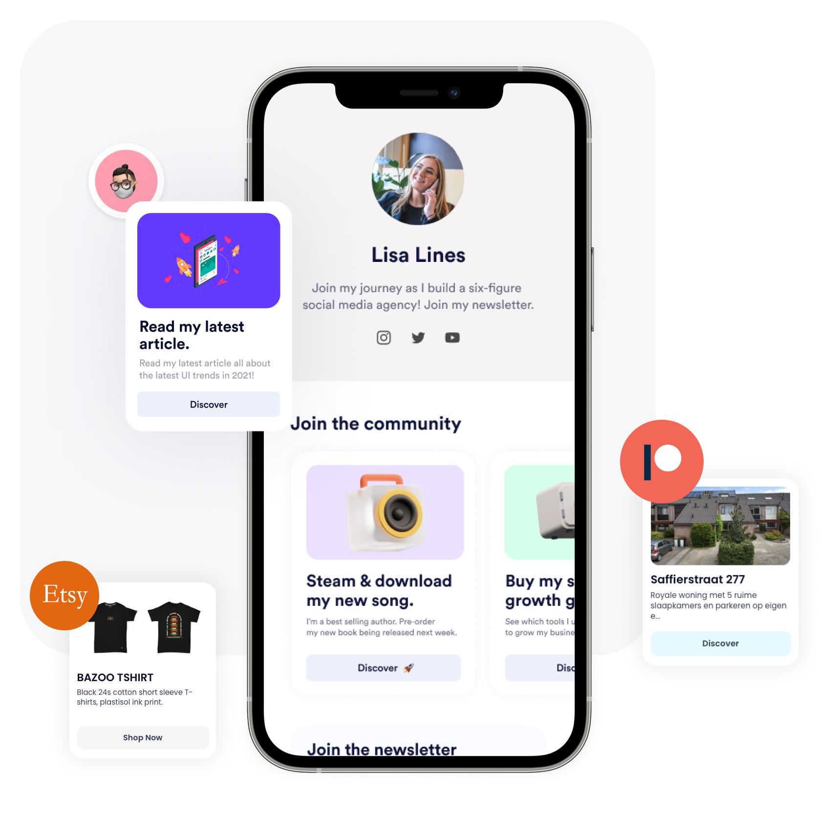 Free Linktree alternative. Switch to Znaplink. Instagram bio link page.
