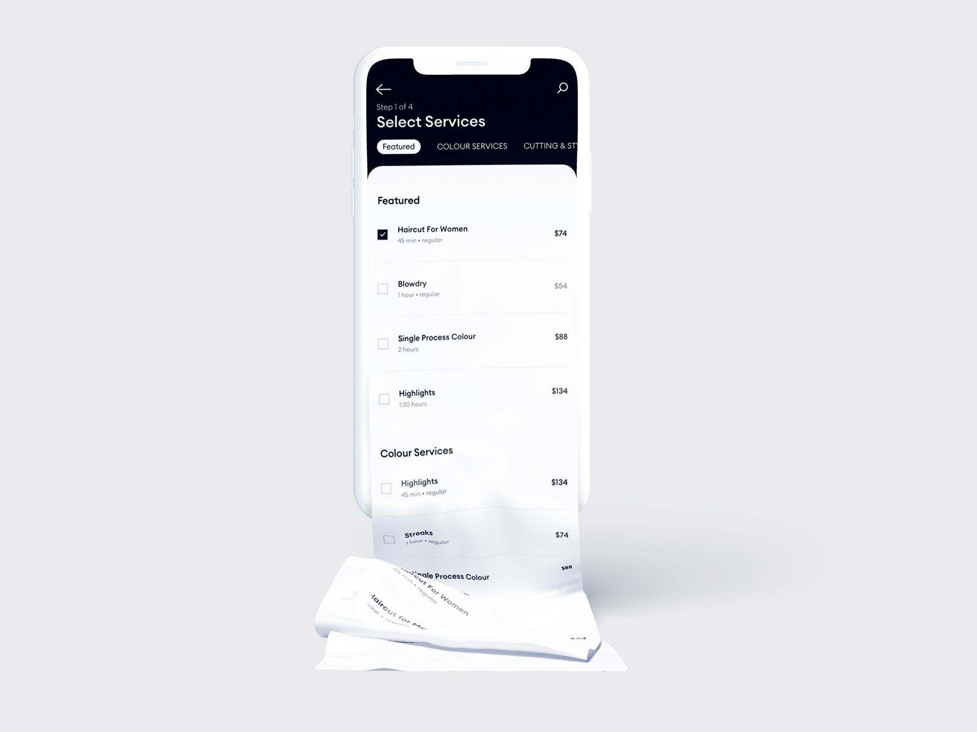 Gelb mobile application mockup