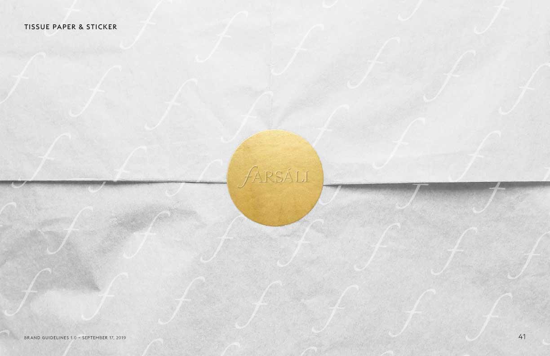 Farsali tissue paper & stickers mockup