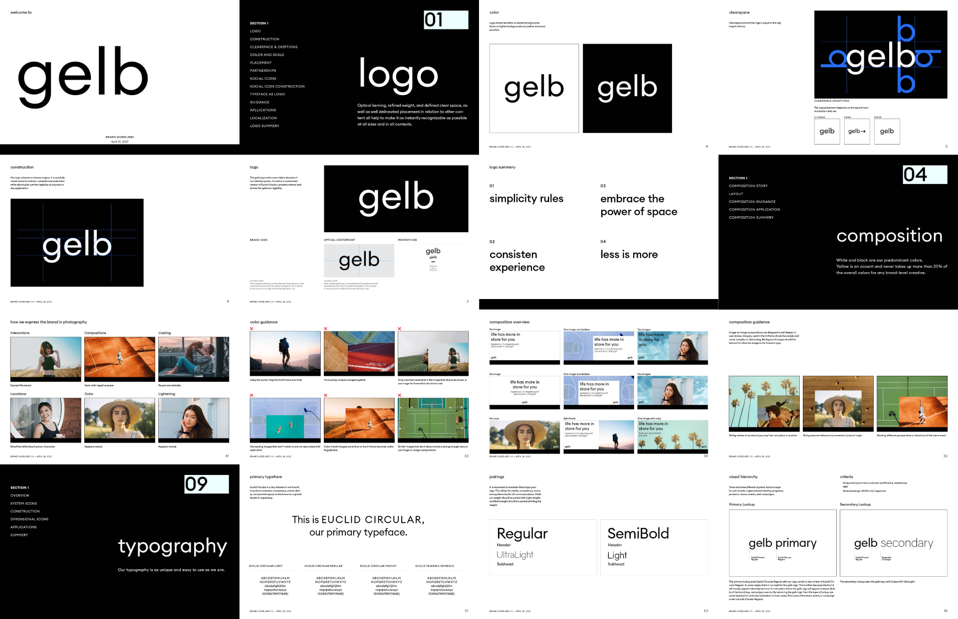 Gelb brand book preview