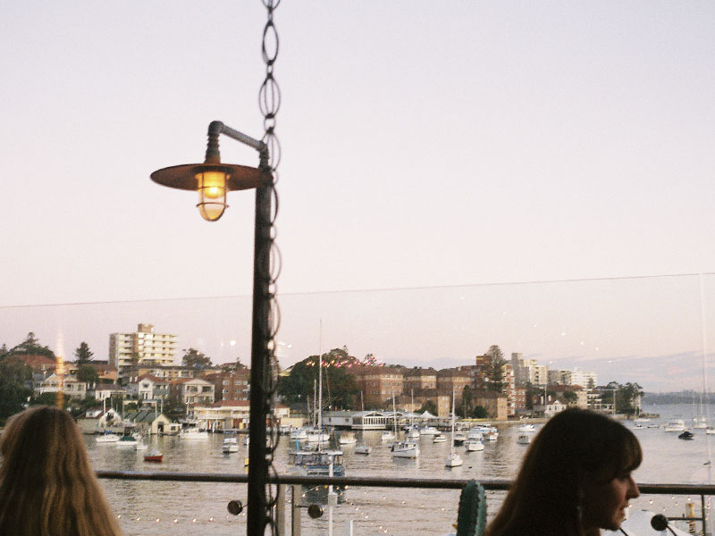 Views above Manly Wharf onto Sydney Harbour