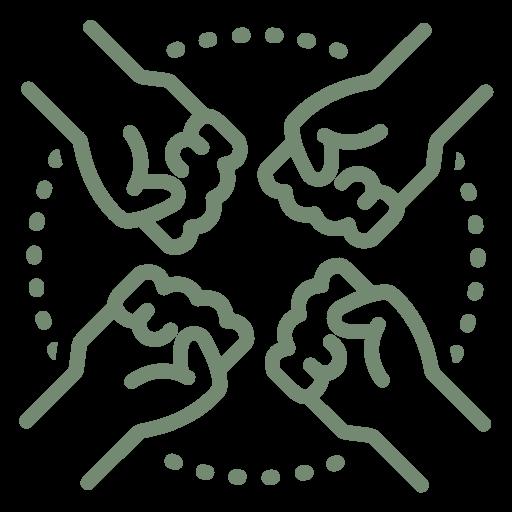 """Symbol zur visuellen Darstellung des Unternehmensbereiches """"Coaching & Teams""""."""