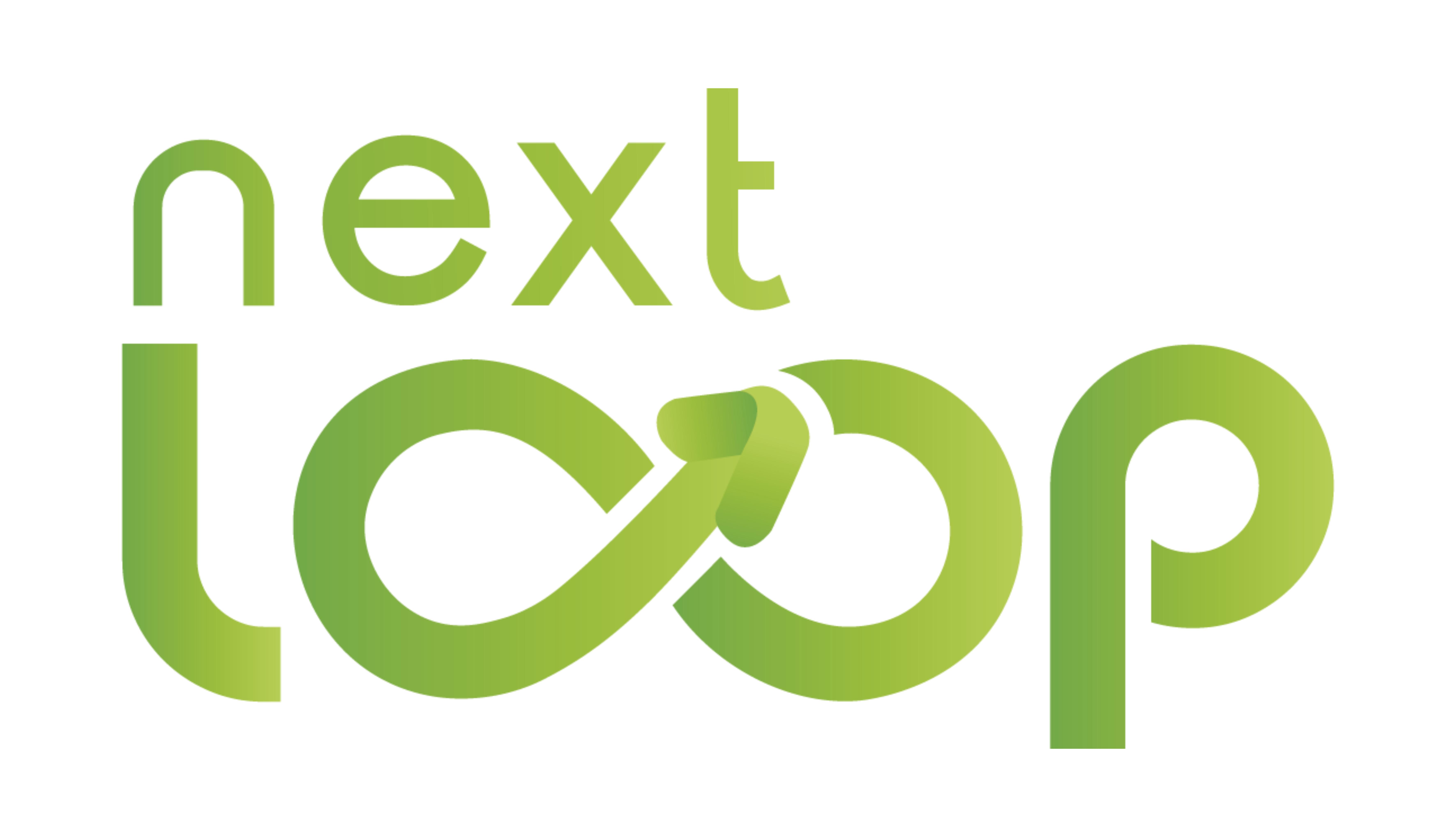 NextLoop Logo auf weißem Hintergrund.