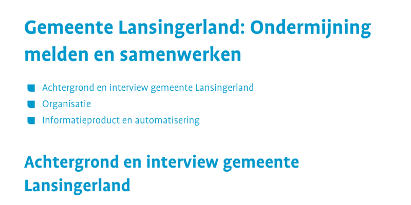 Interview: Gemeente Lansingerland - CCV