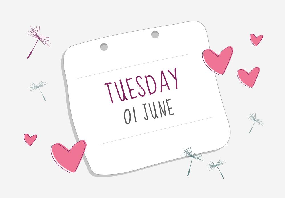 Tuesday 01 June calendar