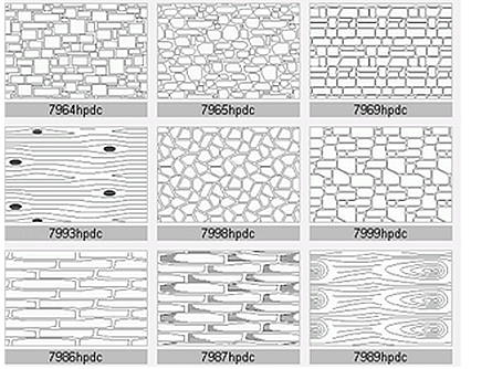 Wood & Stone Hatch Patterns