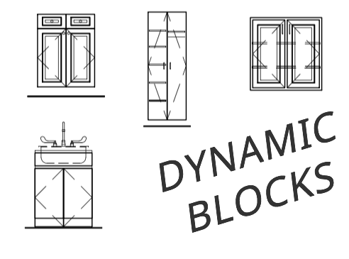 Dynamic Cabinet Blocks for AutoCAD