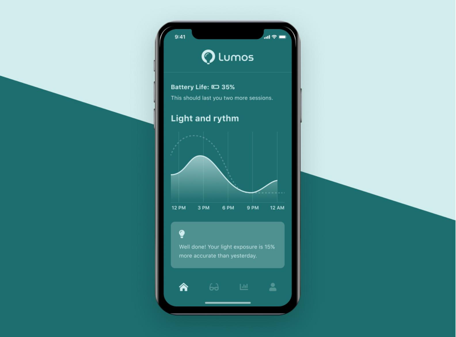 Lumos app concept screen