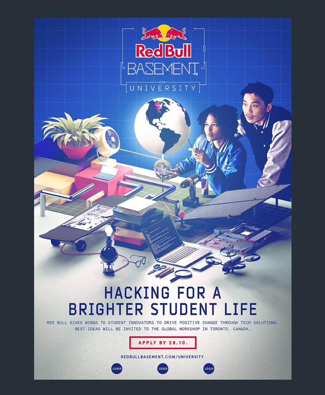 The key visual for Red Bull Basement University