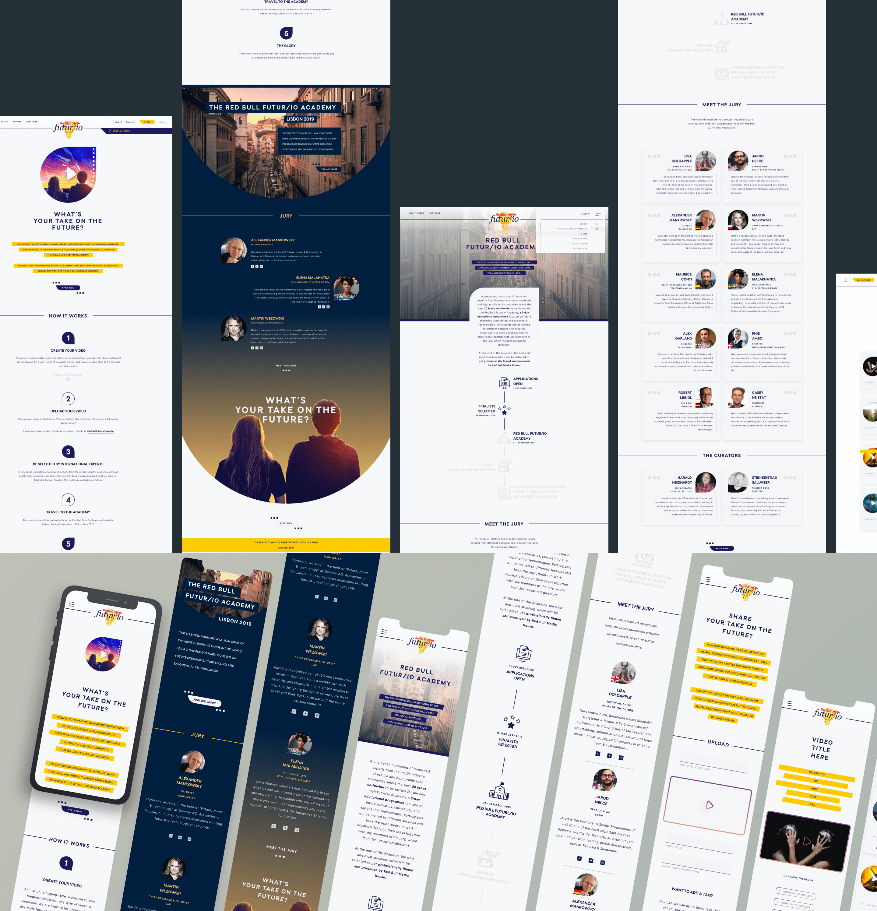 An overview of the website design & mobile designs