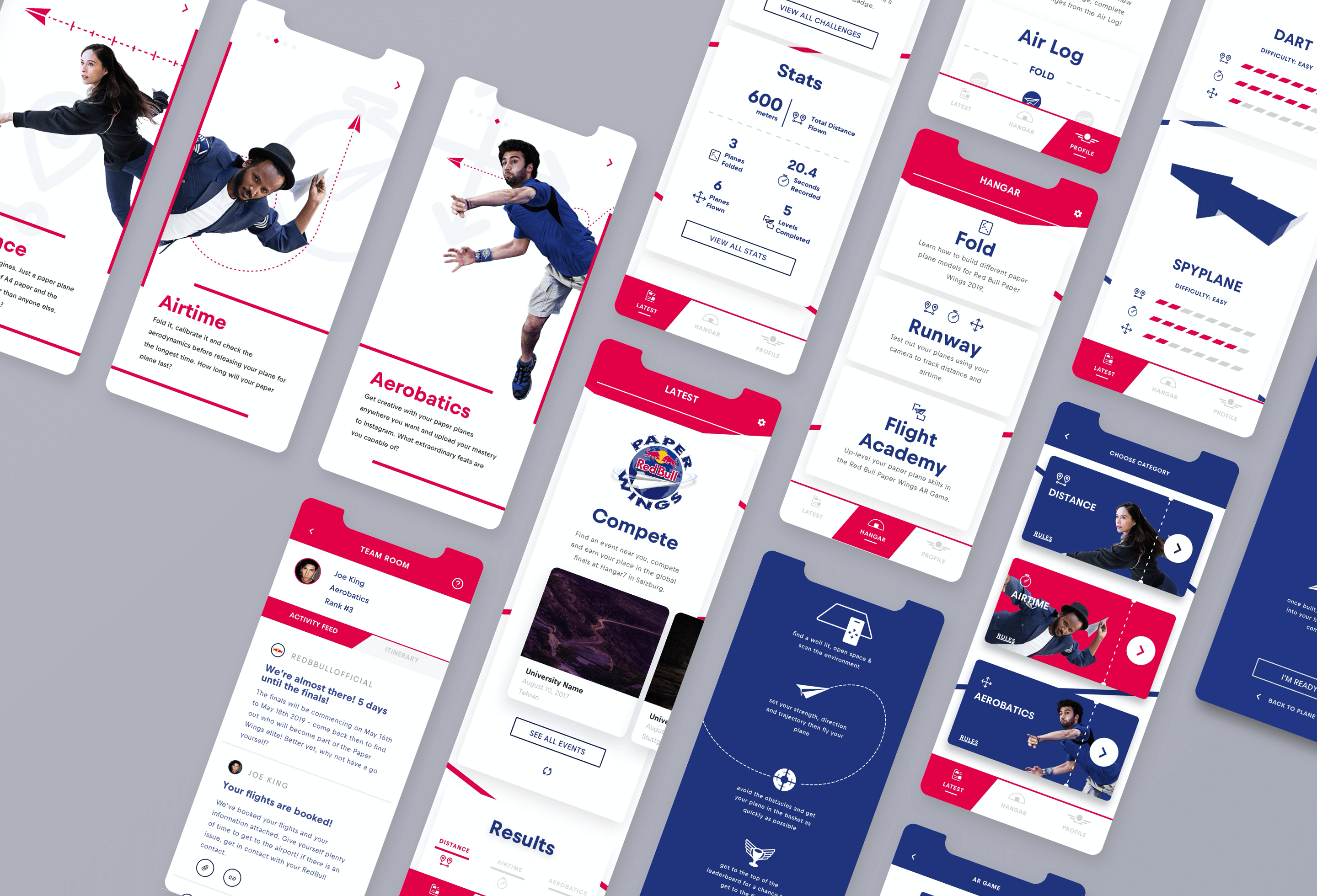 A hero image showing angled versions of the Paper Wings mobile app