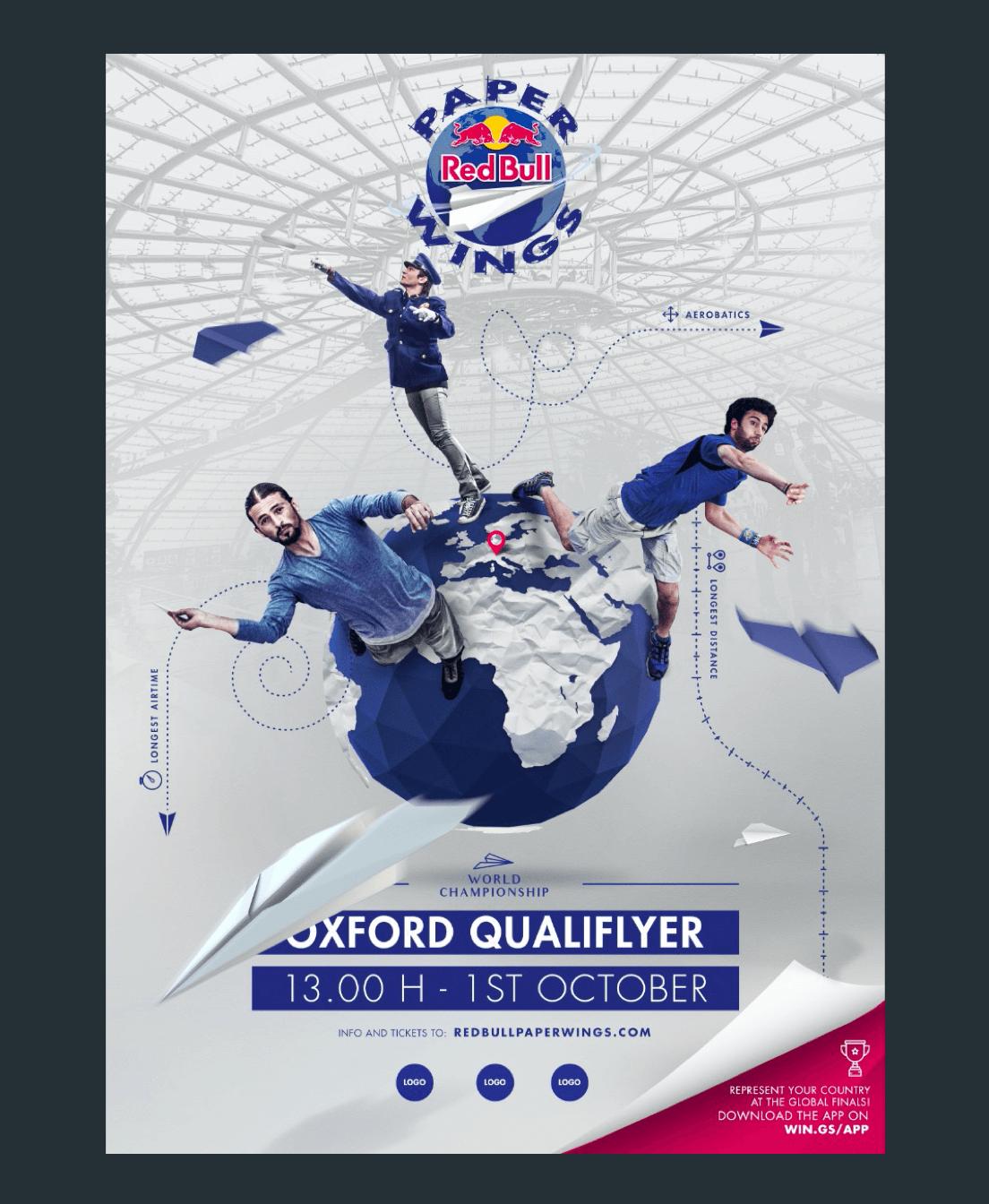 The Red Bull Paper Wings key visual artwork