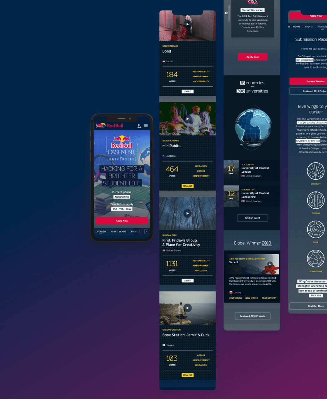 A Collection of mobile website designs